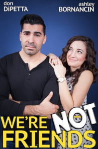 We're not friends poster
